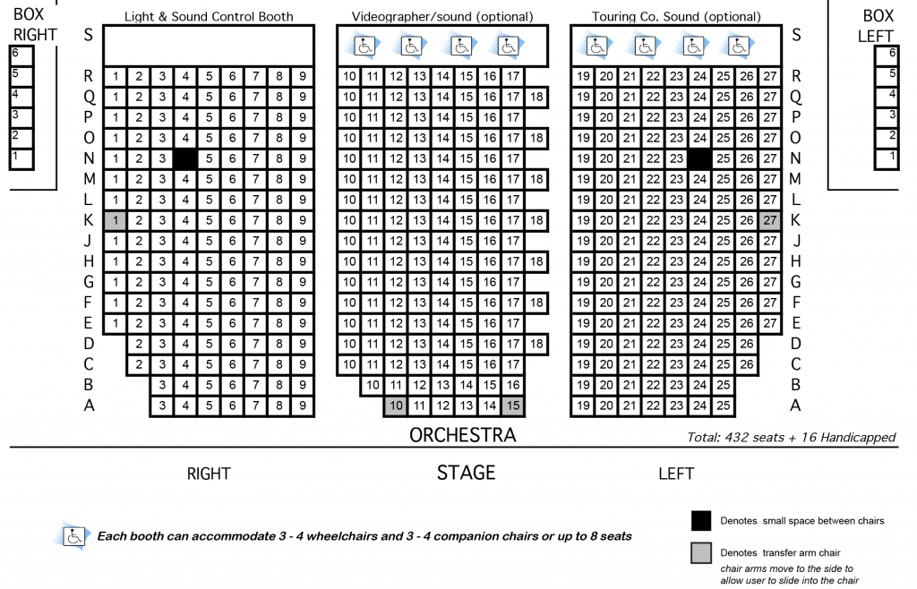 Seating chart imperial theatre