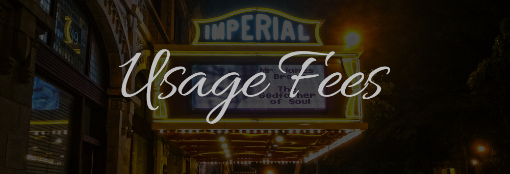 Usage Fees Imperial Theatre