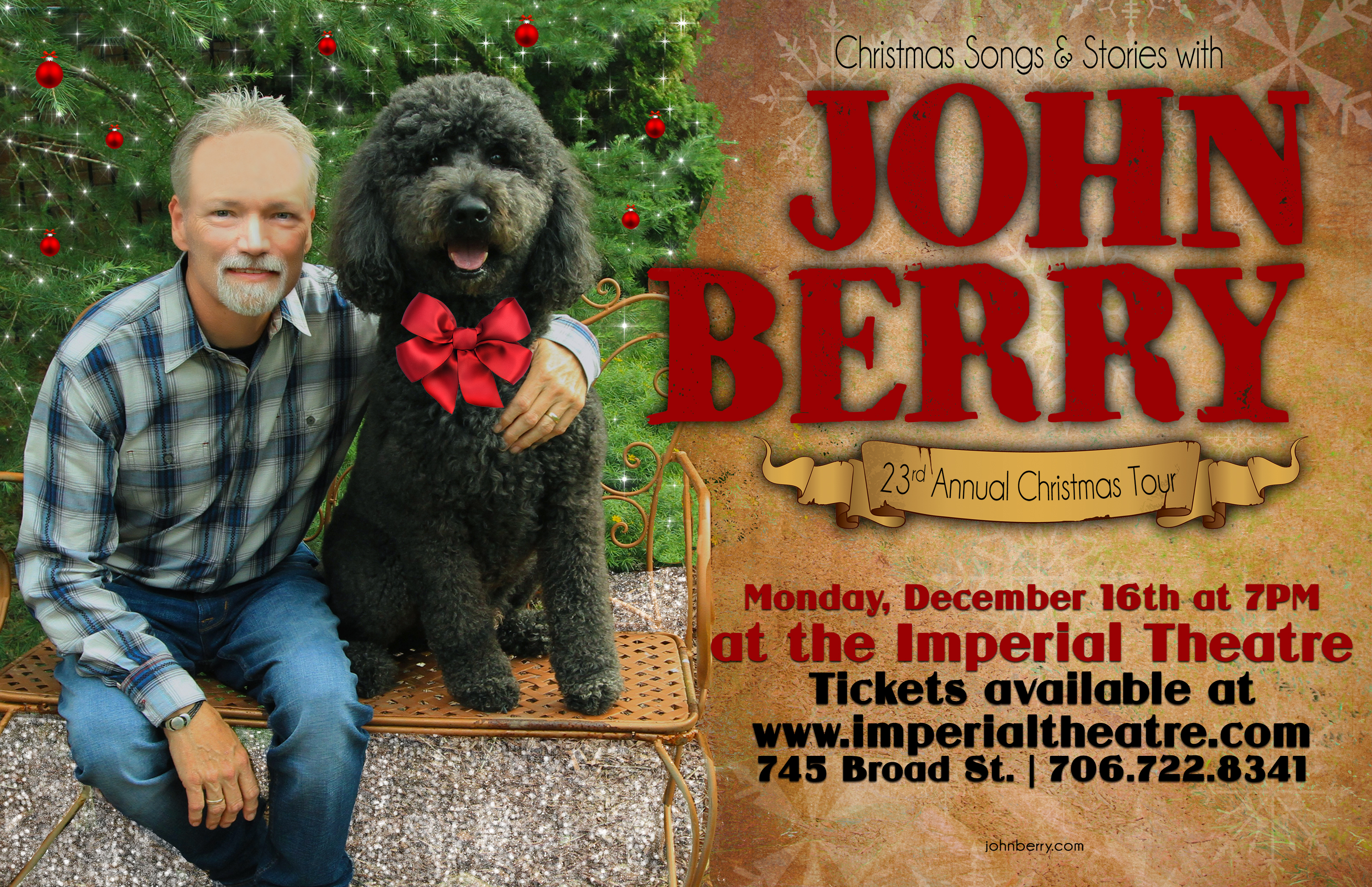 John Berry Christmas Tour 2019 23rd annual Christmas Songs and Stories with John Berry   Imperial